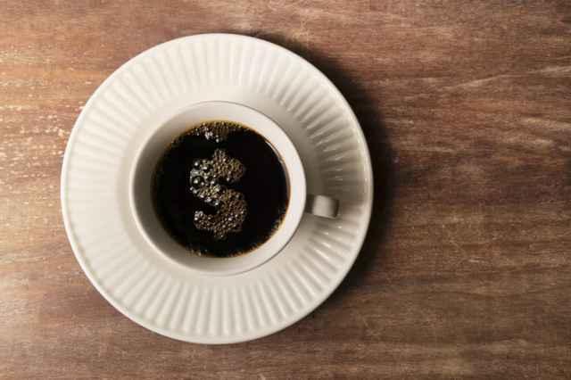 カロリーの少ないブラックコーヒー