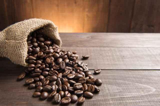 カフェインたっぷりのコーヒー豆