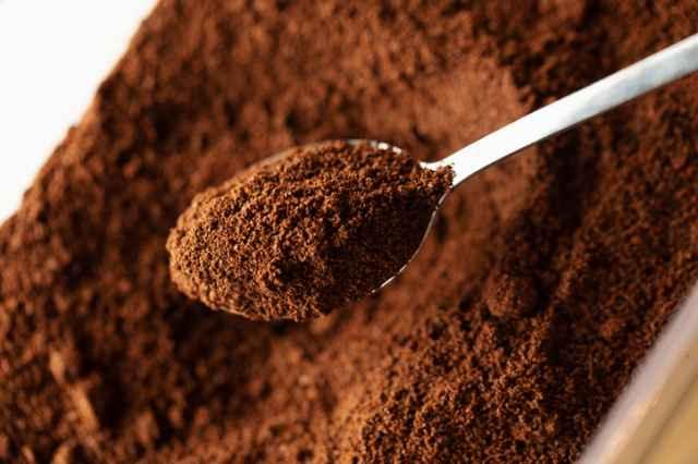 挽いたコーヒー粉