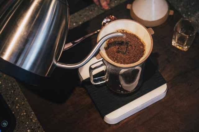 ミディアムローストで淹れるコーヒー