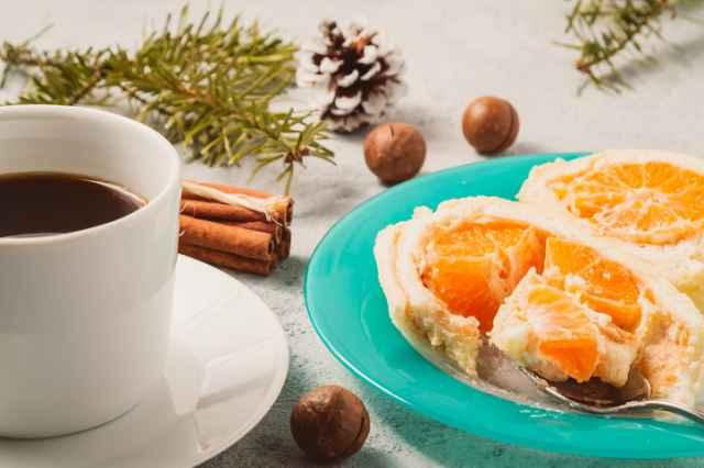 酸味が特徴の珈琲と柑橘系ケーキ