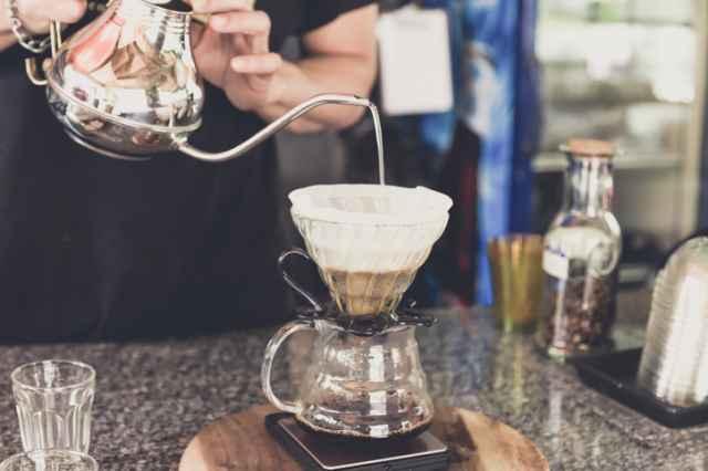 透過式のコーヒーの淹れ方