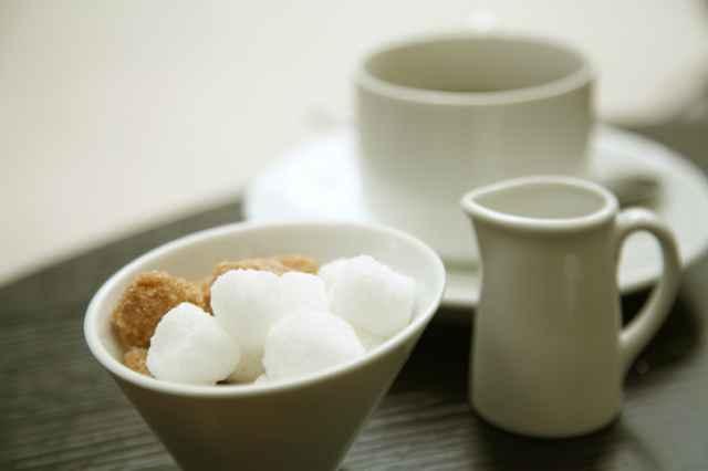 コーヒーと砂糖とミルク